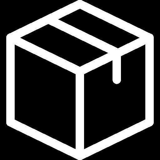 """Ein Box Symbol als Auflistung für den Paketinhalt von """"sybr"""""""